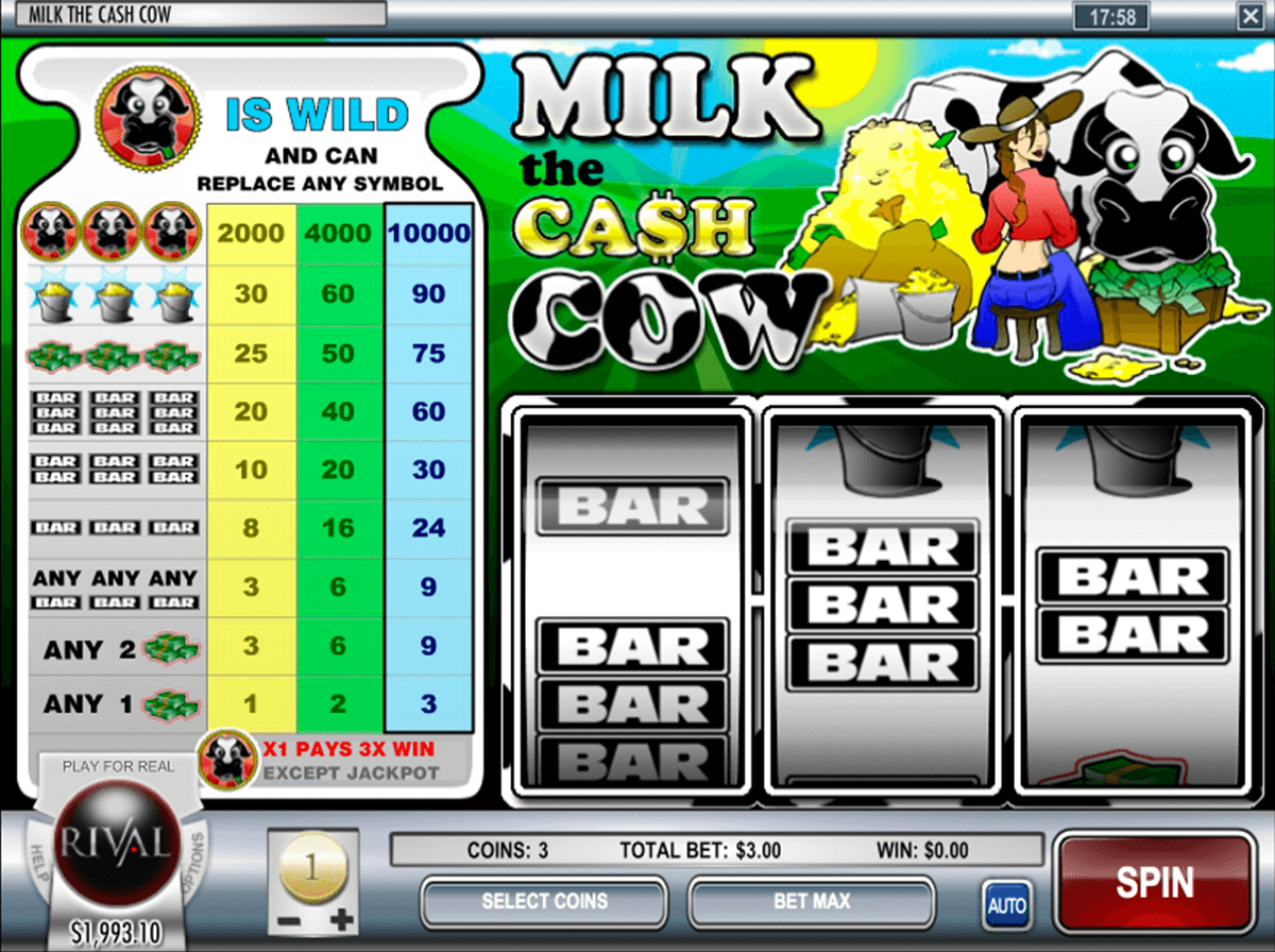 milk the cash cow rival jogo casino online