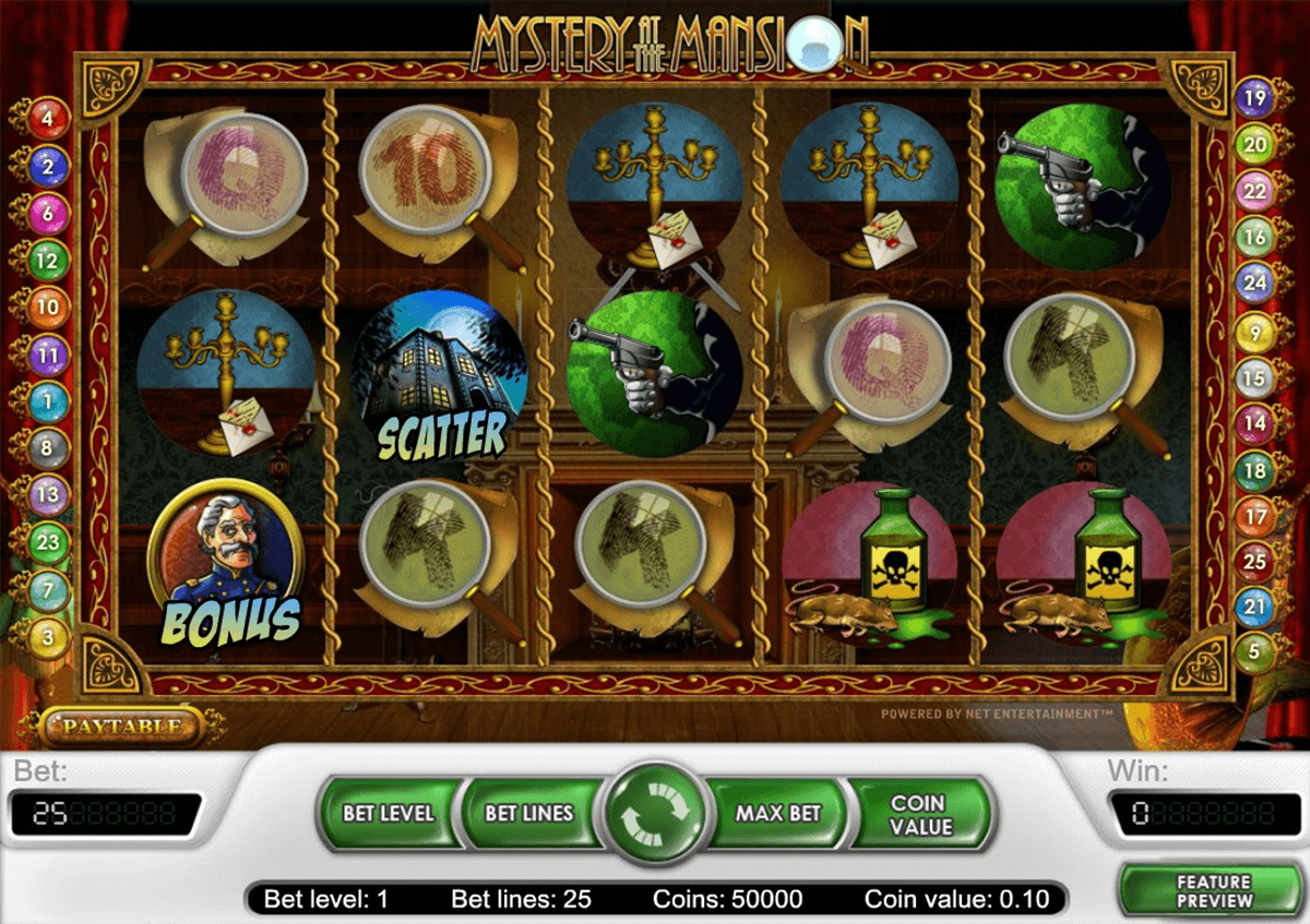 mystery at the mansion netent jogo casino online
