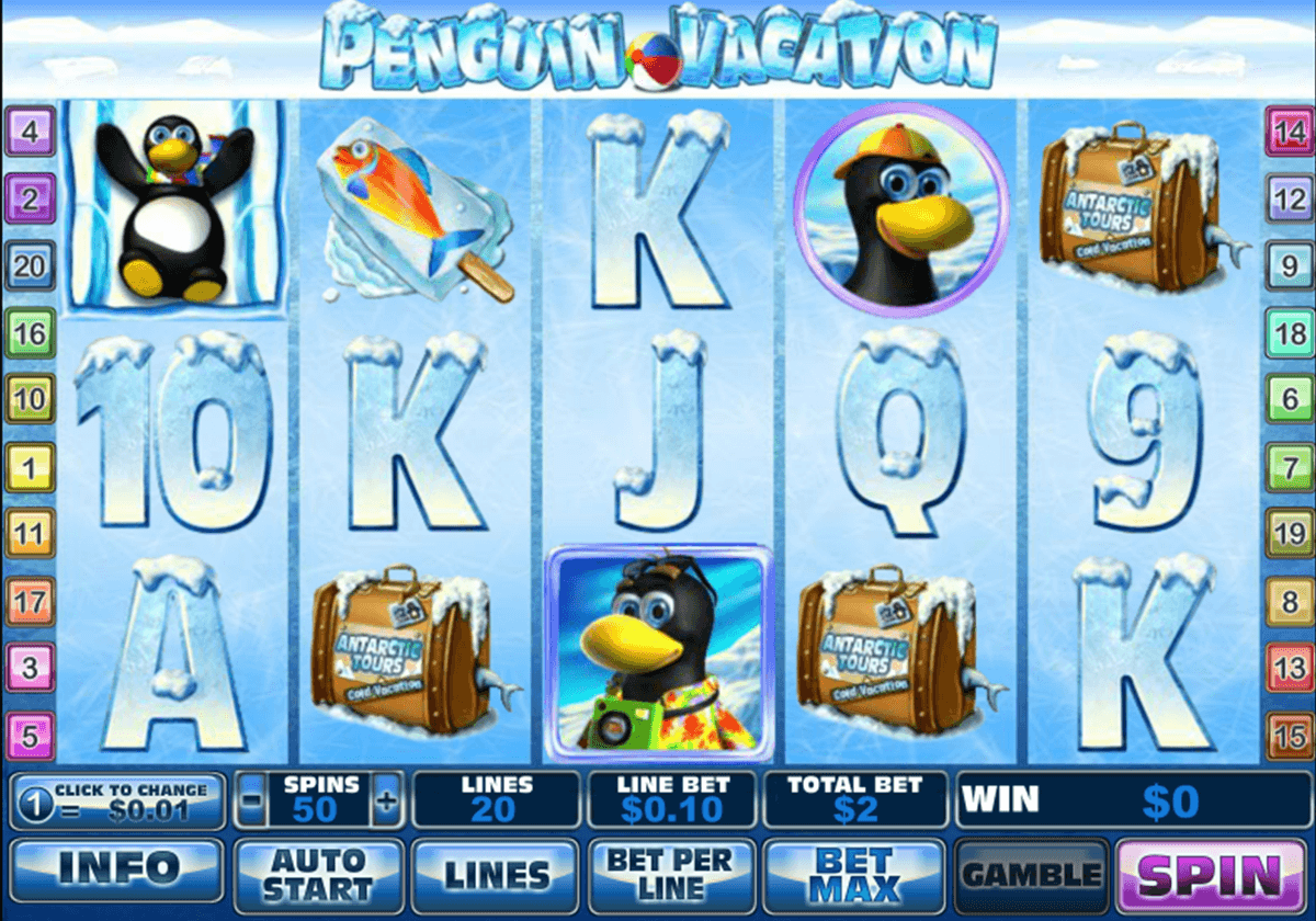 penguin vacation playtech jogo casino online
