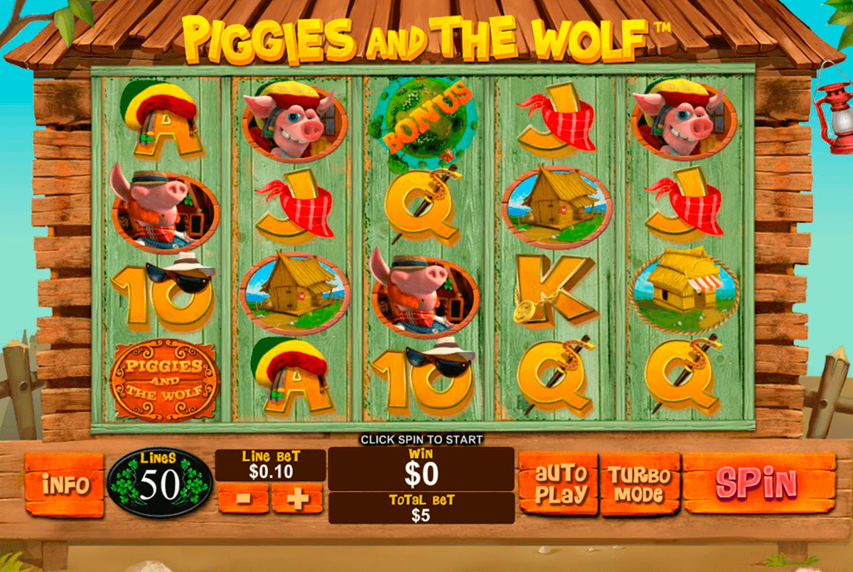 piggies and the wolf playtech jogo casino online