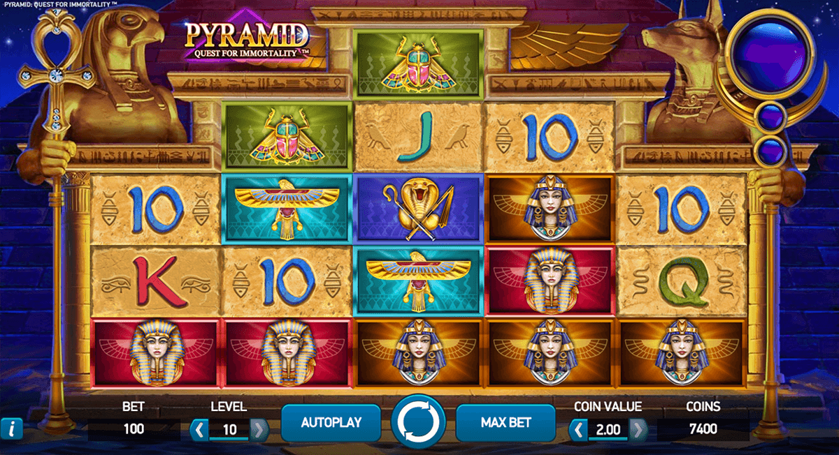 pyramid quest for immortality netent jogo casino online