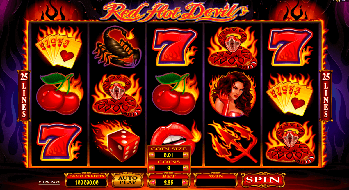 red hot devil microgaming jogo casino online