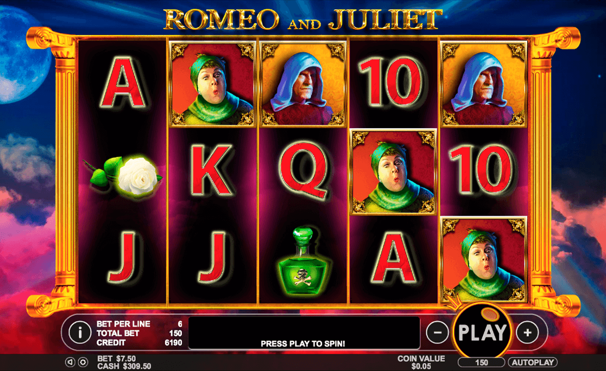 romeo and juliet pragmatic jogo casino online