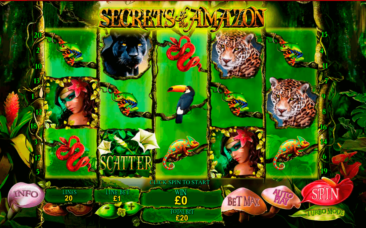 secrets of the amazon playtech jogo casino online