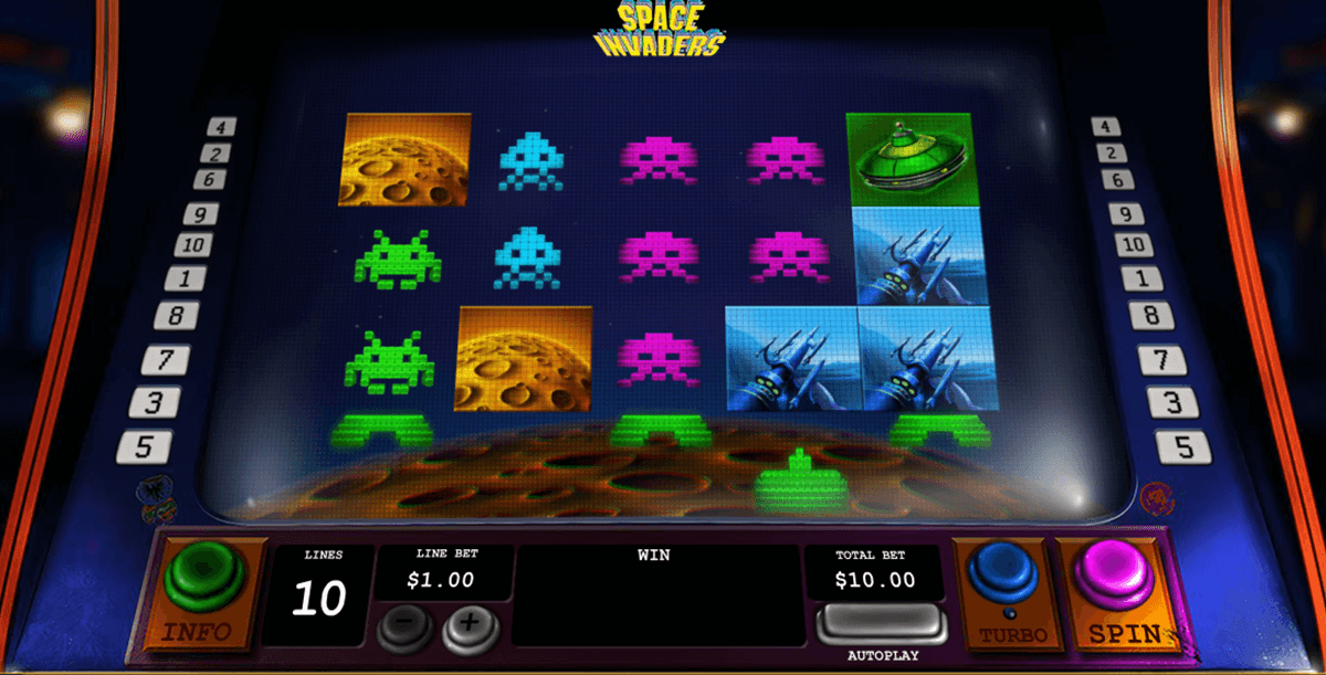 space invaders playtech jogo casino online