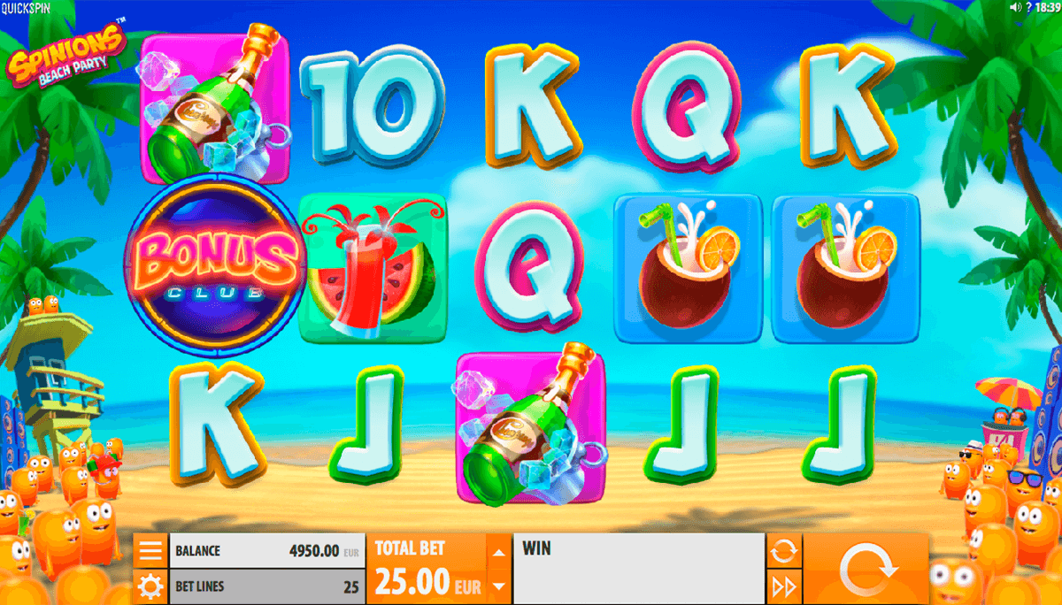 spinions beach party quickspin jogo casino online