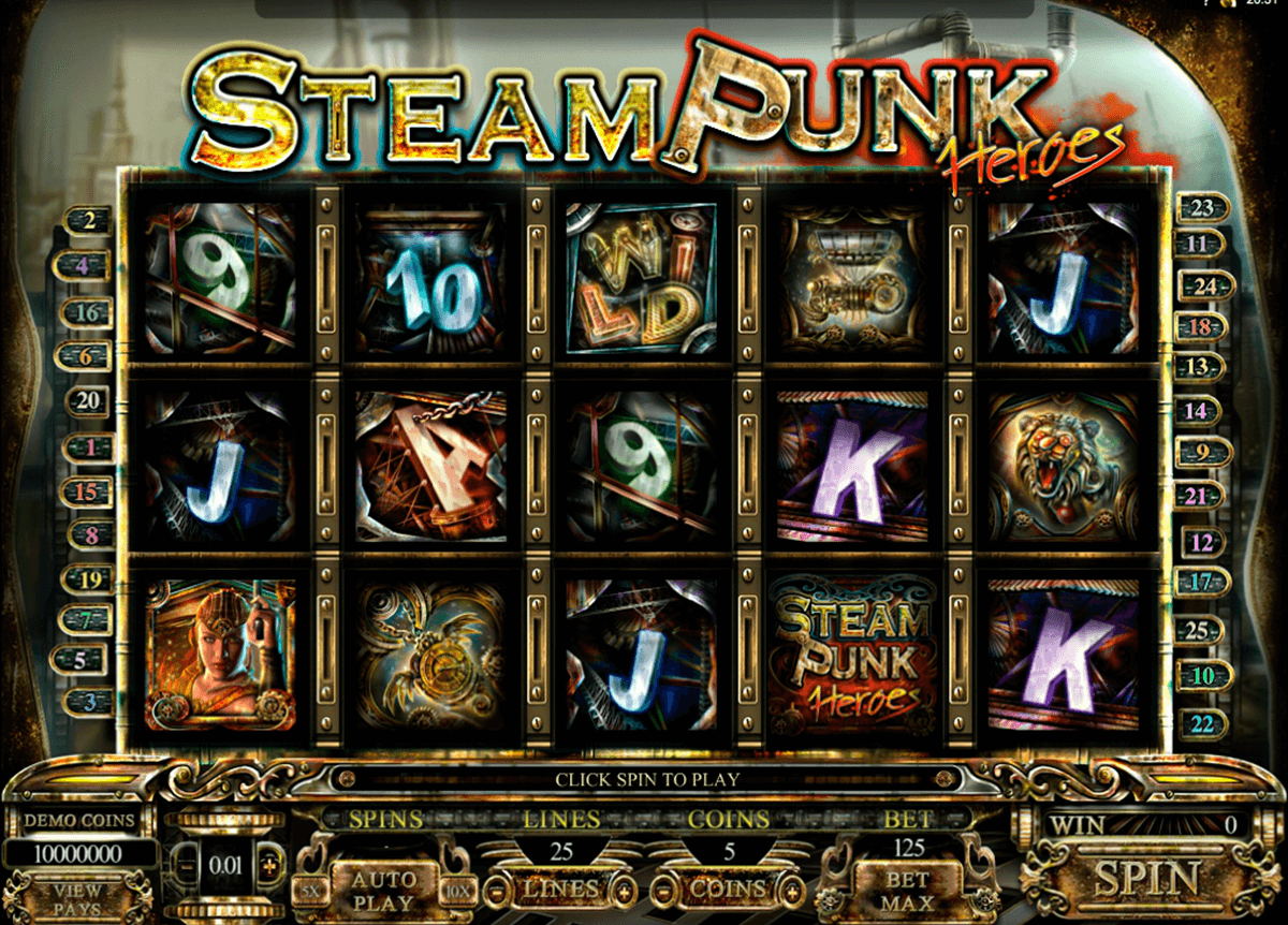steam punk heroes microgaming jogo casino online