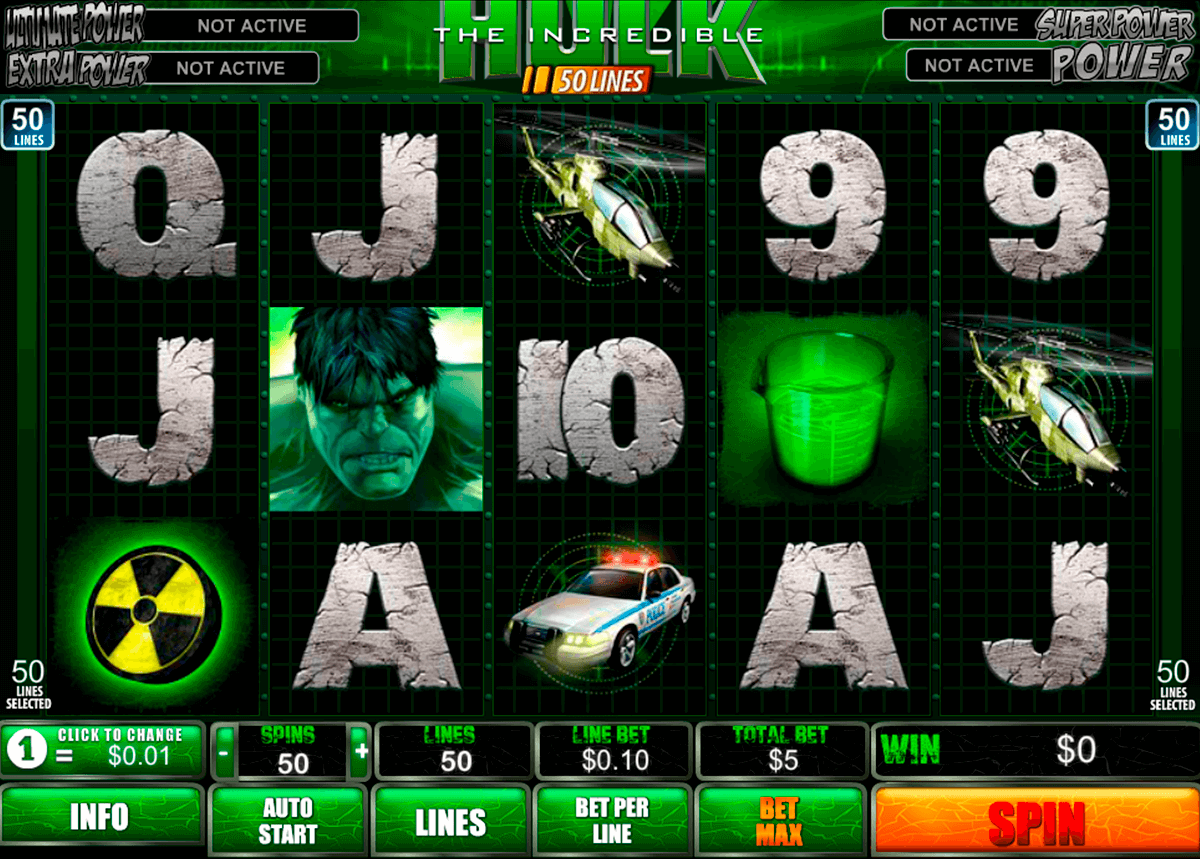 the incredible hulk 50 lines playtech jogo casino online