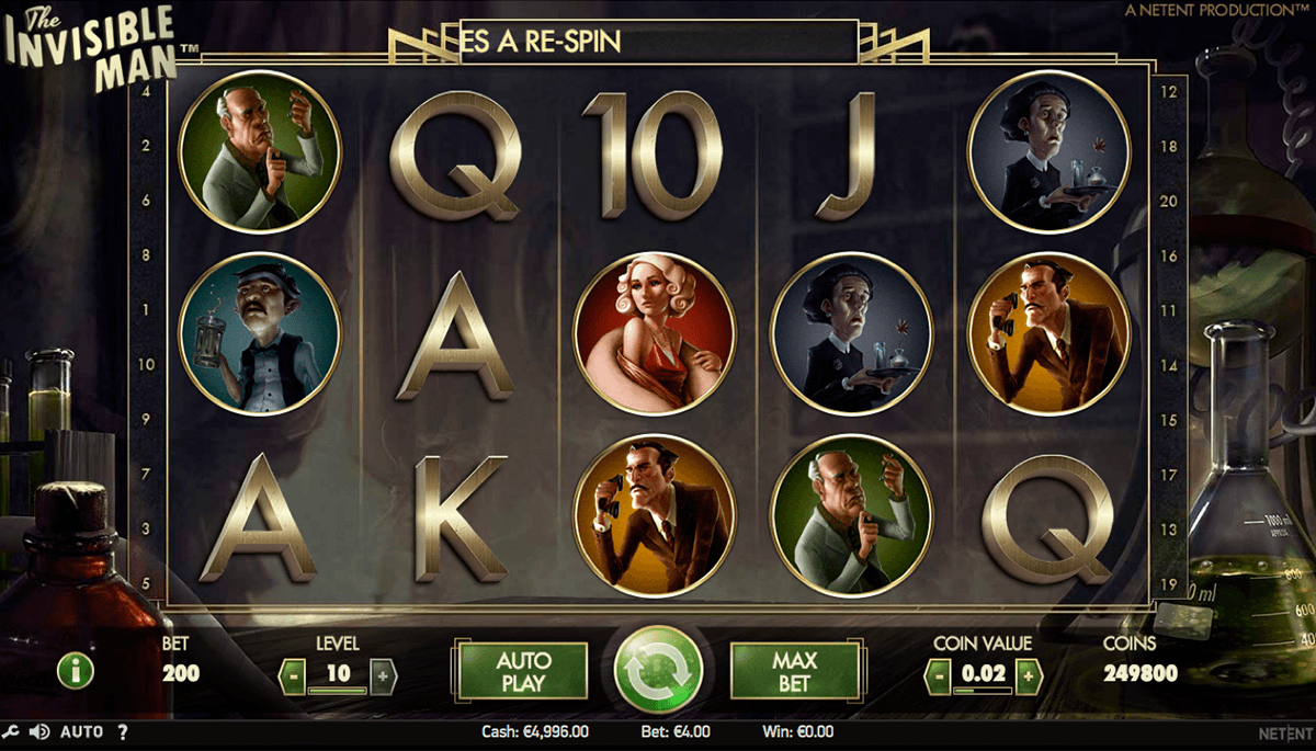 the invisible man netent jogo casino online