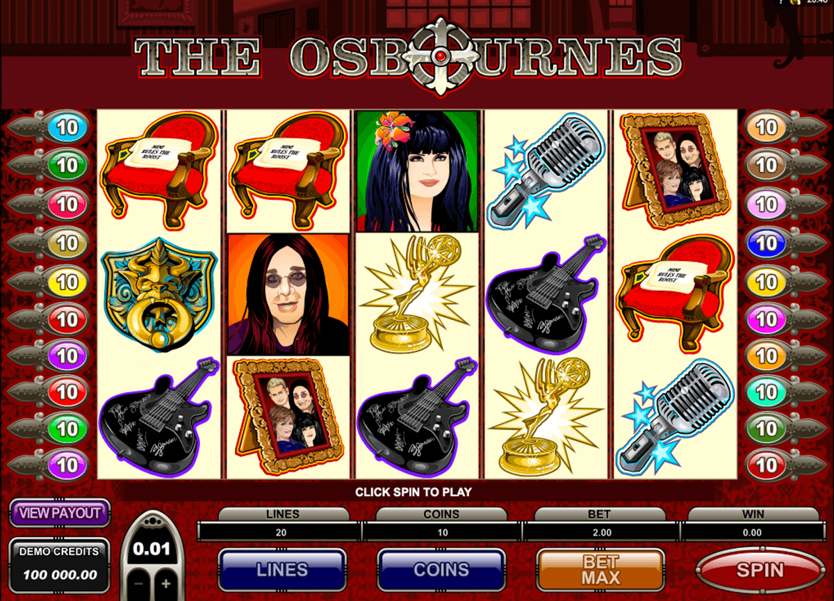 the osbournes microgaming jogo casino online