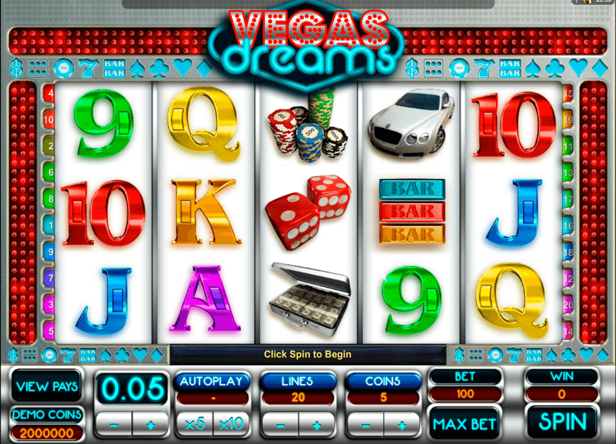 vegas dreams microgaming jogo casino online