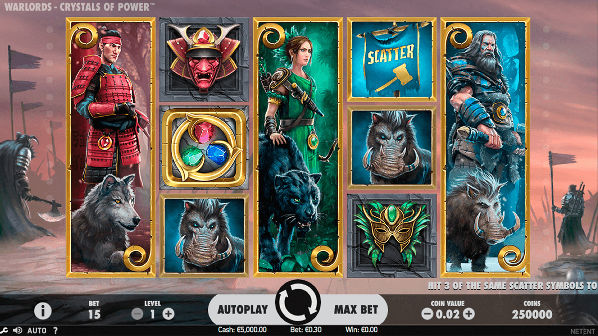 warlords crystals of power netent jogo casino online