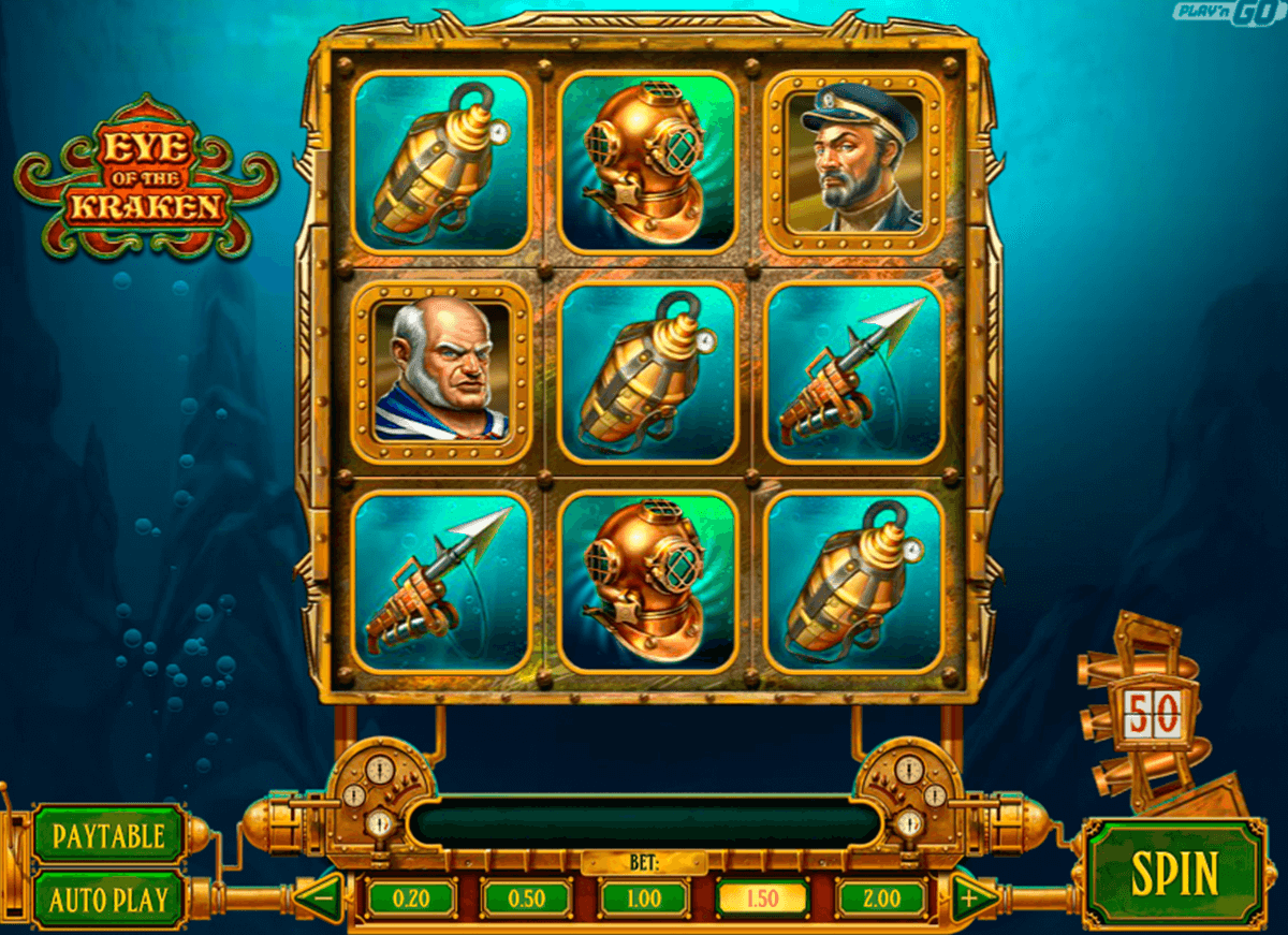 eye of the kraken playn go jogo casino online