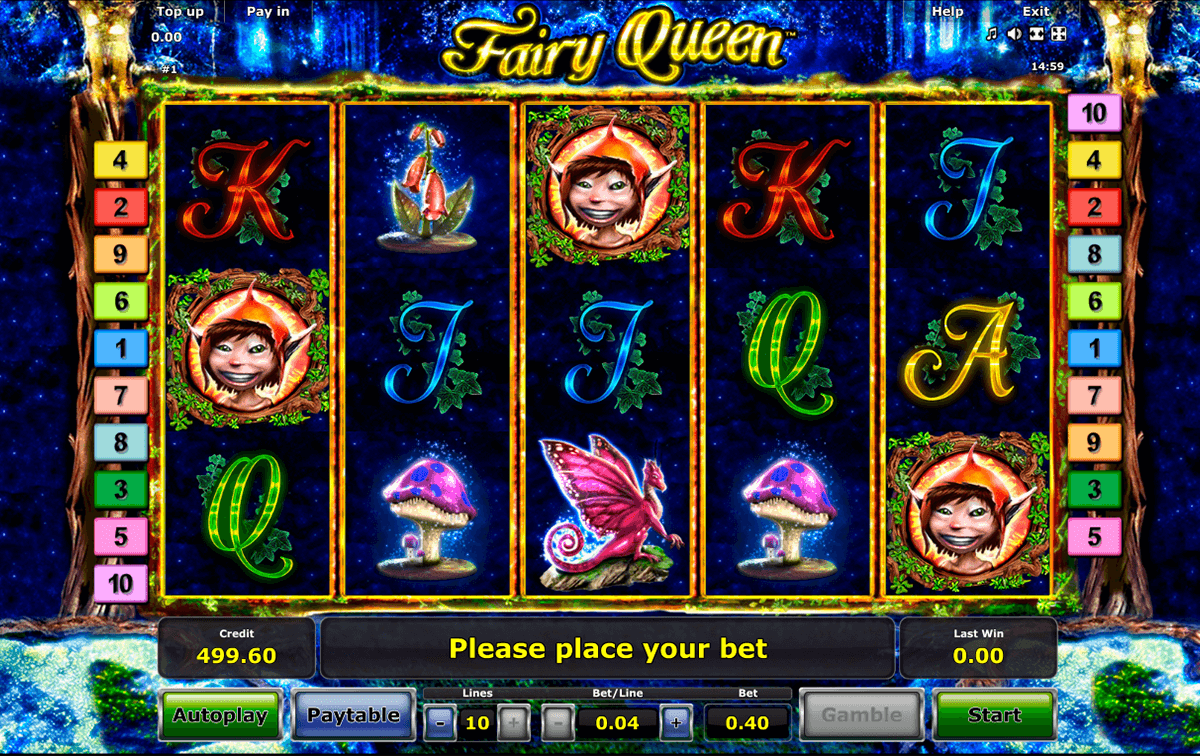 fairy queen novomatic jogo casino online