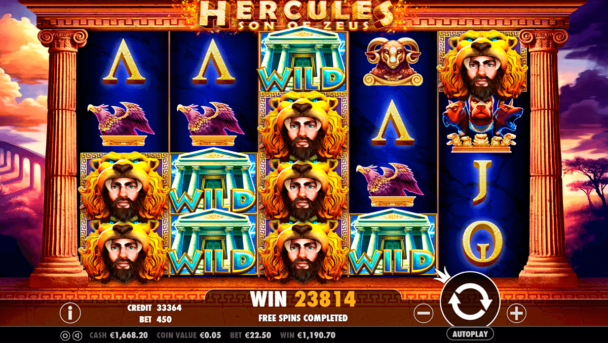 hercules son of zeus pragmatic jogo casino online