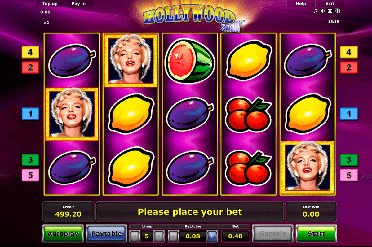 hollywood star novomatic jogo casino online