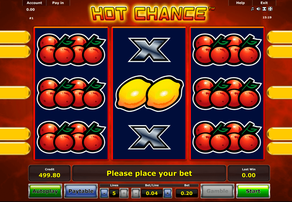 hot chance novomatic jogo casino online