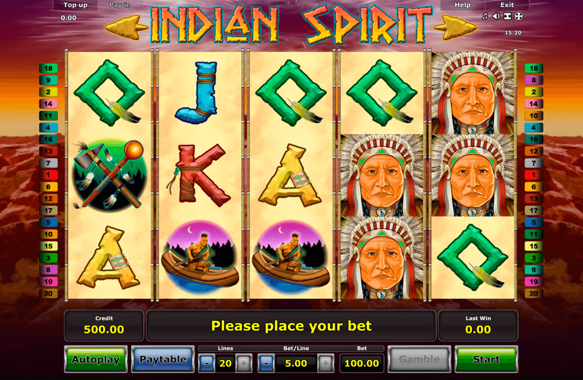 indian spirit novomatic jogo casino online