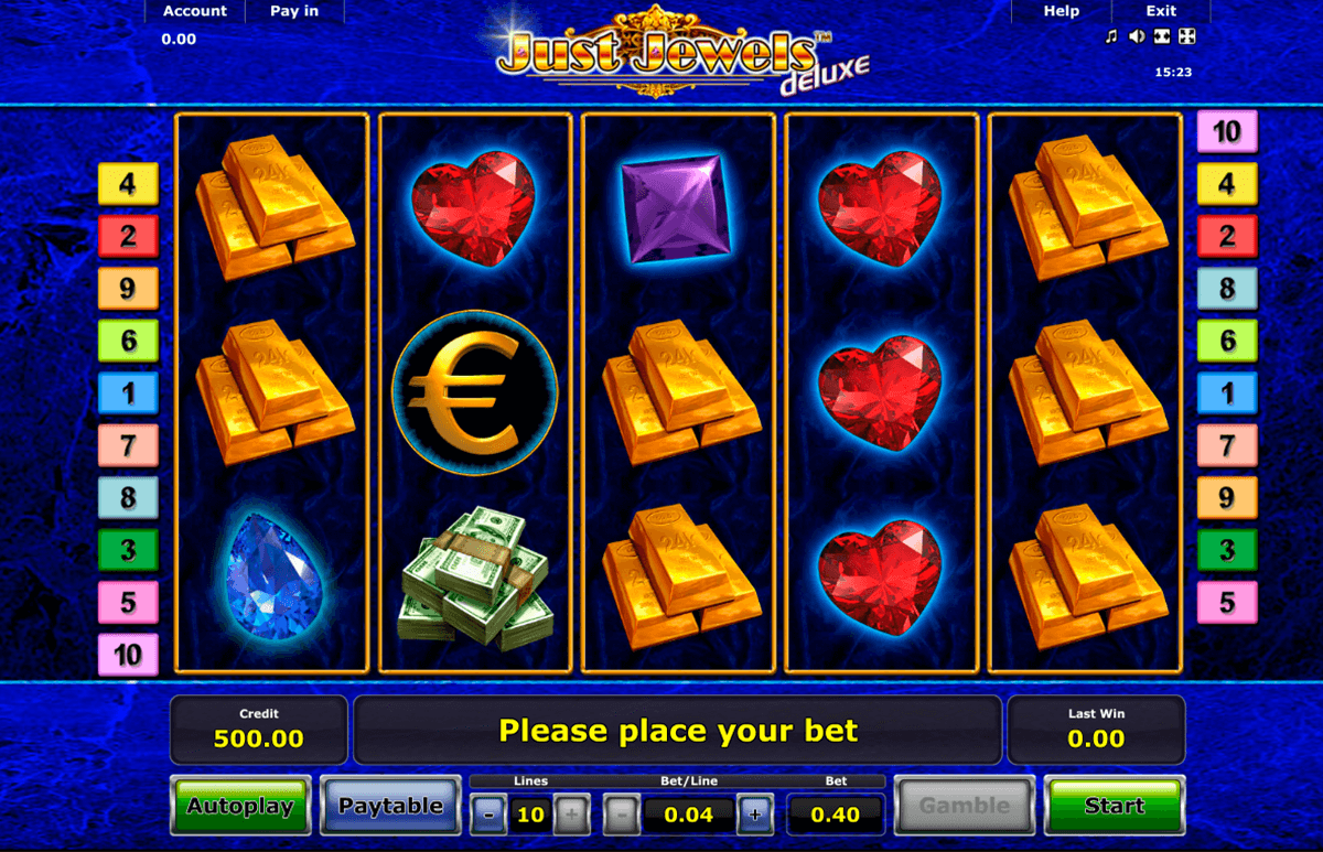 just jewels deluxe novomatic jogo casino online