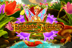 logo enchanted meadow playn go caça niquel
