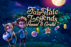 logo fairytale legends hansel and gretel netent caça niquel