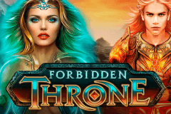 logo forbidden throne microgaming caça niquel