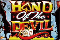 logo hand of the devil bally caça niquel