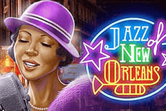 logo jazz of new orleans playn go caça niquel