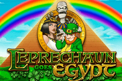 logo leprechaun goes egypt playn go caça niquel
