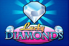 logo lucky diamonds playn go caça niquel