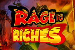 logo rage to riches playn go caça niquel