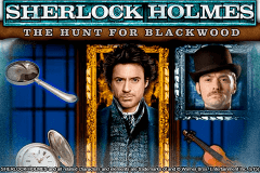 logo sherlock holmes the hunt for blackwood igt caça niquel