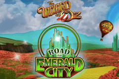 logo the wizard of oz road to emerald city wms caça niquel