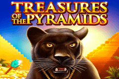 logo treasures of the pyramids igt caça niquel