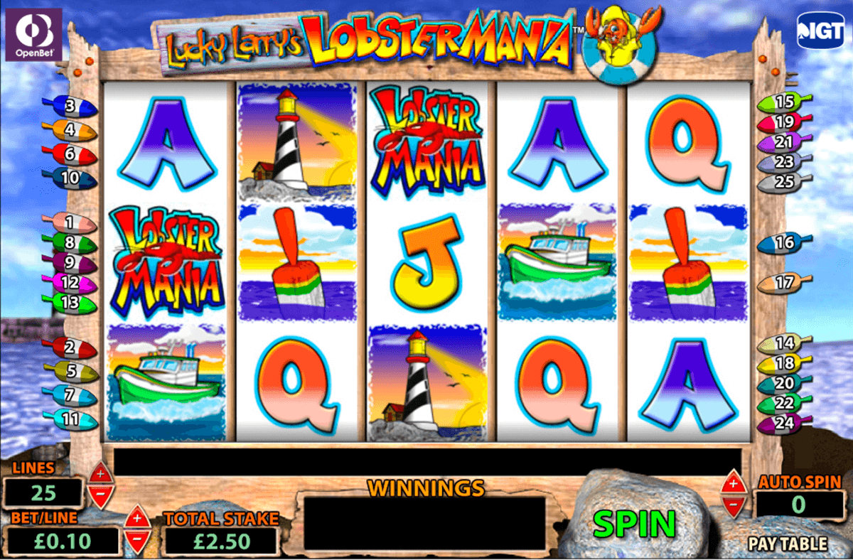 lucky larrys lobstermania igt jogo casino online