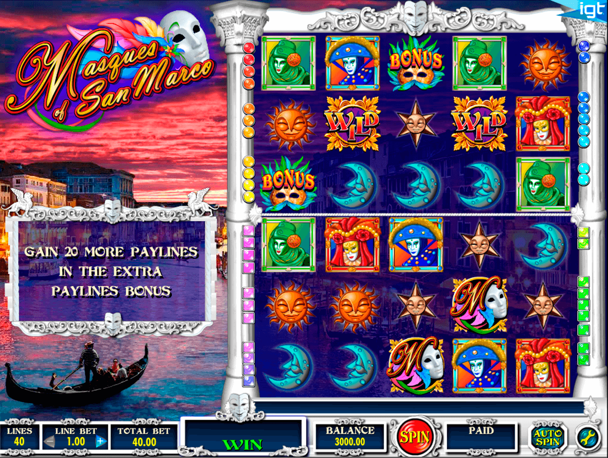 masques of san marco igt jogo casino online