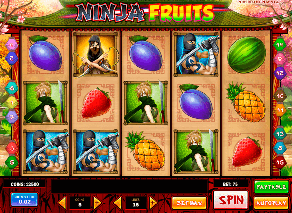 ninja fruits playn go jogo casino online