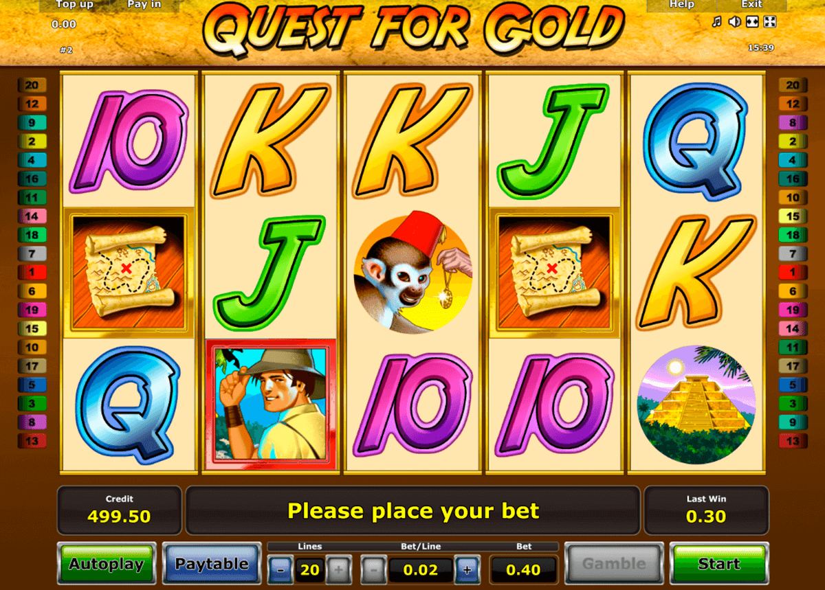 quest for gold novomatic jogo casino online