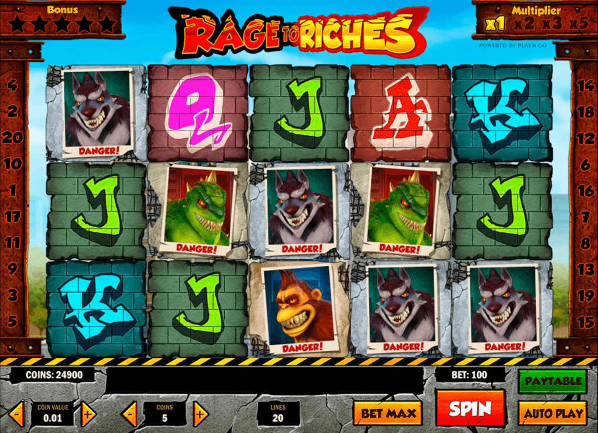 rage to riches playn go jogo casino online