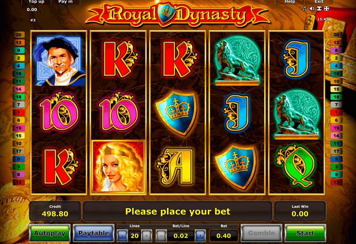 royal dynasty novomatic jogo casino online
