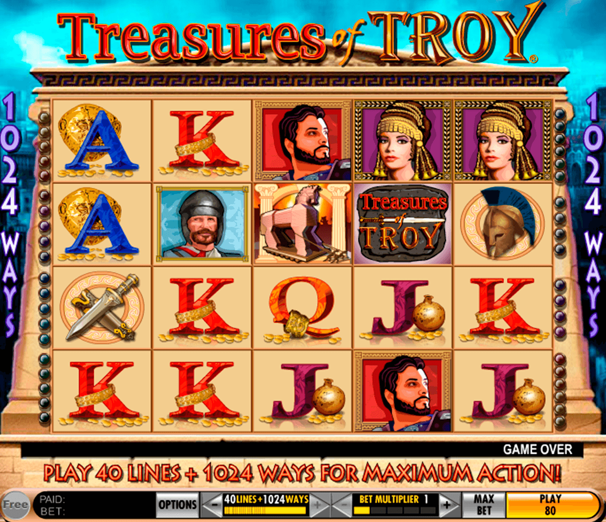 treasures of troy igt jogo casino online