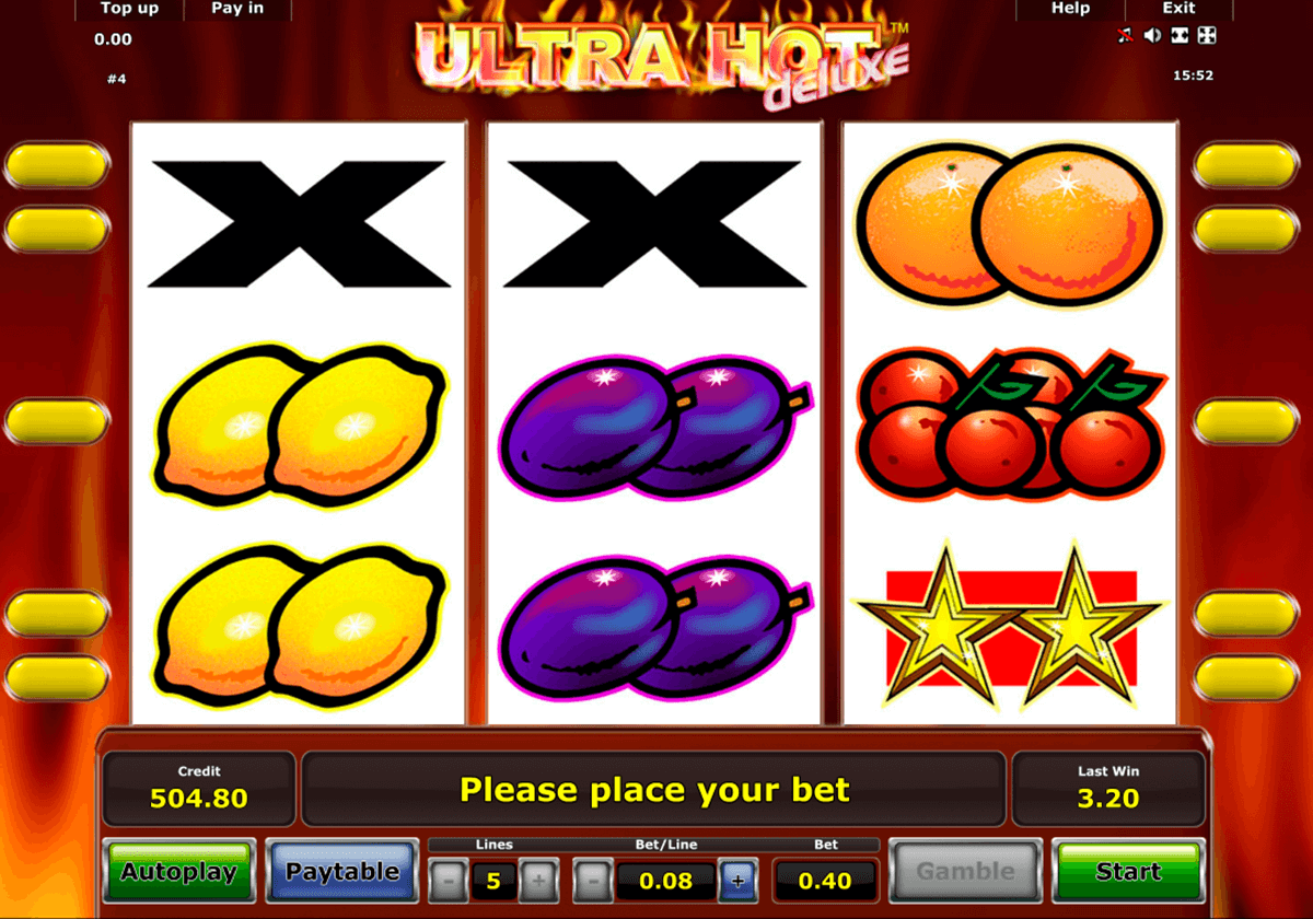 ultra hot deluxe novomatic jogo casino online
