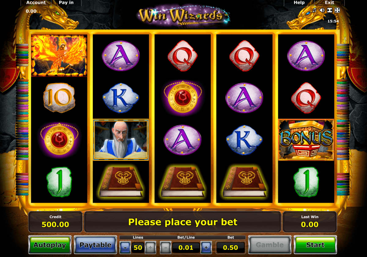 win wizards novomatic jogo casino online
